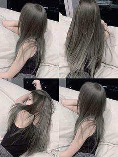 Cute Hair Colors, Hair Dye Colors, Shot Hair Styles, Curly Hair Styles, Cut My Hair, Hair Cuts, Hair Color Underneath, Korean Hair Color, Hair Color Streaks