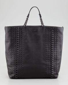 bdcd0d05eb Bottega Veneta Napa Leather Circle-Link Tote Bag Napa Leather