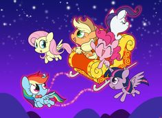 Christmas mlp(my little pony) by jgu112