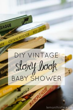 Love this super cute baby shower idea! Everyone brings a book instead of a card- such a great way to build a baby library! #babyshower #babyshoweridea