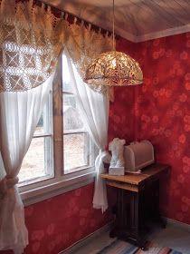 LUOVAKELLARI: Tyhjistä vessapaperirullista lampunvarjostin Tallit, Valance Curtains, Diy, Home Decor, Decoration Home, Bricolage, Room Decor, Diys, Handyman Projects