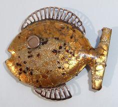 Vintage Eames Era Modernist Signed Matisse Enamel Copper Fish Brooch | eBay