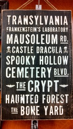 Halloween signs: a spooky take on the usual bus/subway art Halloween Signs, Halloween Projects, Holidays Halloween, Scary Halloween, Happy Halloween, Halloween Decorations, Halloween Party, Halloween Centerpieces, Halloween Clothes