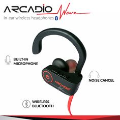 Enjoy your favourite music with ARCADIO's noise cancelling over-ear headbands and on-ear waterproof headphones with extra bass, bluetooth and wireless functionality. Bluetooth, Wireless Headset, Waterproof Headphones, Ear Headbands, Noise Cancelling, Waves, Blue Tooth, Beach Waves, Wave
