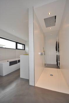 Haus D - Stutensee : Minimalistische Badezimmer von lc[a] la croix [architekten]