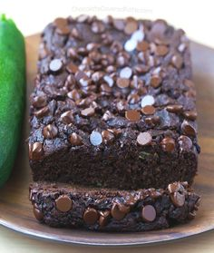 Chocolate Covered Katie: 💚Deep Dark Fudgy Chocolate Zucchini Bread, secretly good for you and completely vegan! Healthy Chocolate Zucchini Bread, Zucchini Bread Recipes, Chocolate Banana Bread, Best Chocolate, Vegan Chocolate, Vegan Recipes, Zucchini Cake, Chocolate Fudge, Zucchini Cookies