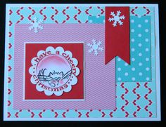 NEW ~ HAVE A CHEERY CHRISTMAS FLUFFLES Greeting Card by ME Cat blank inside