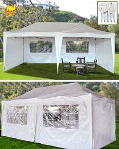STRONG CAMEL 10u0027X20u0027EZ POP UP Wedding Party Tent PE Folding Gazebo Beach & Waterproof Pop Up Gazebo Garden Shade Patio Dining Decking Caravan ...