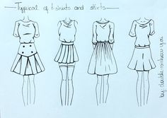 How to draw skirts(2) and t-shirts