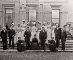 Just got real. Few decades ago. The workers of Highclere Castle a.k.a Downton Abbey!