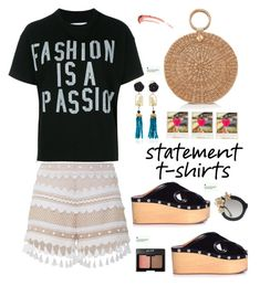 """Say It Loud: Slogan T-Shirts"" by hamaly ❤ liked on Polyvore featuring Dodo Bar Or, Of Rare Origin, Isabel Marant, Sacai, Aranáz, Polaroid, Alice + Olivia, Charlotte Russe, outfit and ootd"