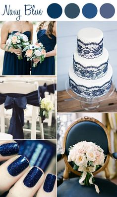 Blue and White Wedding Ideas - Trending blue wedding color schemes 2k15.