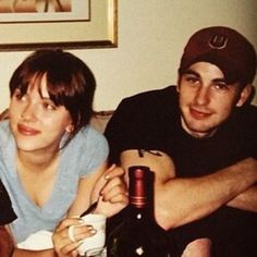 Chris Evans and Scarlett Johansson forever ago. She was was about 20 and he was about 23
