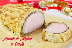 The Roast Pork in Crust is a tasty second course, perfect to serve for your special lunches or dinners. The crust preparations, for their richness and beauty, immediately create a festive atmosphere o Healthy Pork Recipes, Pork Roast, Buffet, Dinner Recipes, Pizza, Tasty, Lunch, Homemade, Meat