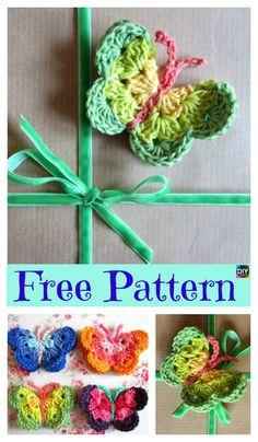 15 Cutest Crochet Beautiful Butterfly – Free Patterns #freecrochetpattern #butterfly