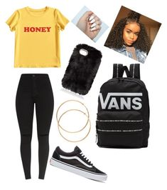 """""""CASUALLY SPRING"""" by trendyideas35 on Polyvore featuring MIEL and Vans"""