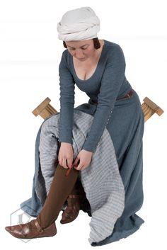 Sartorium, Justyna Wiklik plain woollen dress with lining, buttoned sleeves