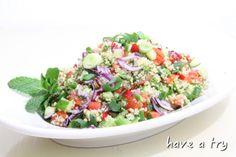 Couscous-Salat mit Minze und Petersilie (vegan)
