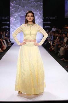 Dia Mirza & Models in http://www.AnitaDongre.com/ #SS14 at Lakme Fashion Week Summer-Resort 2014