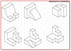 Isometric Sketch, Isometric Design, Isometric Drawing Exercises, Orthographic Drawing, Interesting Drawings, Perspective Art, School Art Projects, Drawing Practice, Technical Drawing