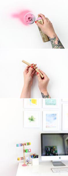 DIY Washi Tape Holder (click through for tutorial!)