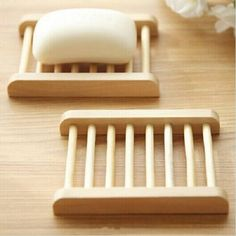 Bargain World Trapezoid Natural Bamboo Wooden Soap Box Eco-Friendly Soap Holder Diy Soap Dish Holder, Wood Soap Dish, Soap Dishes, Box Container, Small Computer, Bois Diy, Soap Boxes, Wood Crafts, Woodworking Projects