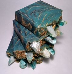 """ENERGY"" Handmade Soap by Boho Chica Soaps Cold Processes with Melt & Pour Crystal Embeds."