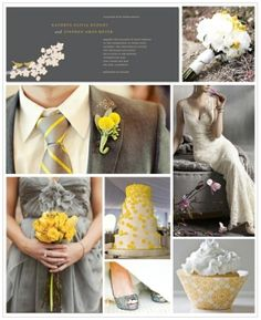 Grey & Yellow Wedding by Courtney Danielle
