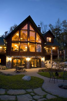 Luxury log home.