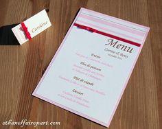 Amor wedding menu