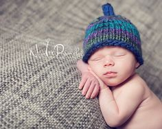 Knitting PATTERN - Easy Knit Sprout Knit Baby Hat Pattern - Instant Download PDF 228 - Newborn to 12 Months - Photography Prop Pattern