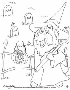 halloween pet coloring pages - photo#18
