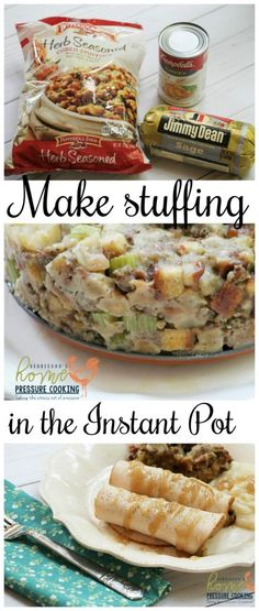 No time to cook? Make stuffing the lazy way! This Pressure Cooker Stuffing recipe serves up to 8 people without the long hours of toiling in the kitchen.