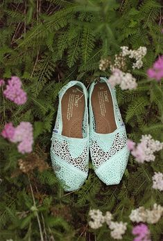 Mint TOMS- awesome wedding shoes //  photo by j.woodbery photography, see more: http://theeverylastdetail.com/mint-rustic-elegant-alabama-wedding/
