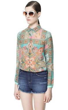 Fashion Floral Casual Chiffon Blouse | Blouses-$13.90 FREE SHIPPING