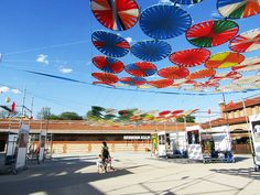 """Voladoras is an Ephimeral Installation by Submarina Estudio that has been selected at """"Art Installation for La Plaza"""" competition in Matadero Madrid, Contemporary Art Center."""