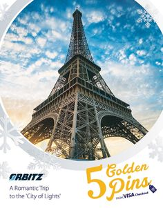 You could win a trip to Paris for two from Orbitz. You'll have five days of exploring the best that the City of Lights has to offer. Sign up for Visa Checkout at visacheckout.com/goldenpins for a chance to win. NoPurcNec.18+USRes. Ends 1/2/15. Rules apply. Click thru to learn more. | Visa Checkout. The easier way to pay online.
