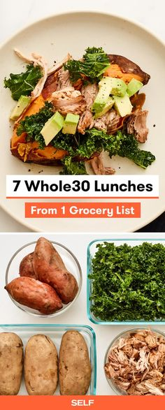 pinnable for 7 whole30 lunches from 1 grocery list