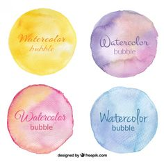 Watercolor stains pack  Free Vector