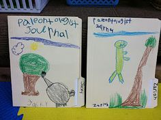 We made our Paleontologist Journal to keep all of our work in over the next 10 days.