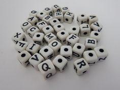 40 Acrylic 12mm Alphabet Beads - pinned by pin4etsy.com
