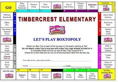 Box Tops for Education collection sheets from the PTO Today File Exchange.