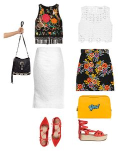 """gb"" by gulomaya ❤ liked on Polyvore featuring Alice + Olivia, Miguelina, MSGM, Givenchy, Loeffler Randall, Sigerson Morrison and Anya Hindmarch"