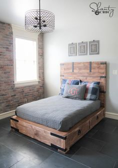 DIY Full or Queen Size Storage Bed