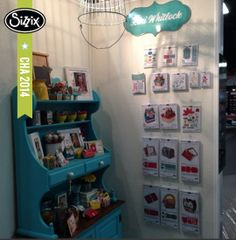 Here is a sneak peek of the new Lori Whitlock collection. We'll get some closer pics when the boxes are cleared out. #lovesizzix #sizzixcha #chashow