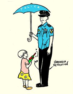 Umbrella Police ‪#‎occupycentral‬ ‪#‎oclphk‬ Occupy Central ‪#‎UmbrellaRevolution‬ ‪#‎hk926‬‪