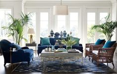 British Colonial Style - 7 steps to achieve this style. Find out how to create this classic look which is the basis of modern day Hamptons and Caribbean style and also has elements of contemporary style with the botanical and greenery trend. West Indies Decor, British Colonial Decor, Home And Living, Colonial Style, Colonial Furniture, Living Decor, Home Decor, House Interior, Blue Rooms