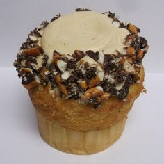 Chubby Hubby Cupcake..had to do it:) Its my favorite Ben & Jerry's Flavor too!
