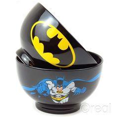 Dc Comics Batman Dark Knight Bowl Stoneware Ceramic Cereal Logo Official