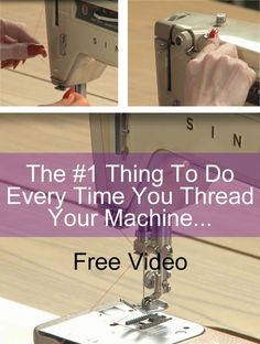 Diy Sewing Projects Everyone should know this tip before threading a sewing machine. - Learn how to use your new sewing machine like a pro. These videos show how to wind a bobbin, thread your machine, and keep it running like it's brand new. Sewing Hacks, Sewing Tutorials, Sewing Crafts, Sewing Tips, Sewing Ideas, Sewing Basics, Sewing Lessons, Dress Tutorials, Leftover Fabric